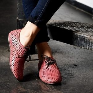 Bed Stu Cobbler Series Red Lux Mambo Oxfords